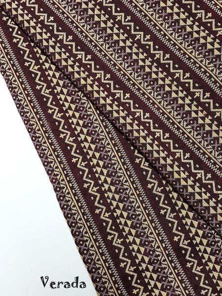 thai woven fabric tribal fabric cotton native fabric by the yard ethnic fabric aztec fabric craft supplies woven textile 1 2 yard wf89