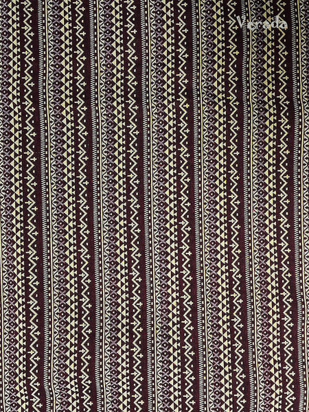 Thai Tribal Native Woven Fabric Cotton Textile 1/2 yard (WF89), VeradaCraft, HaremPantsThai