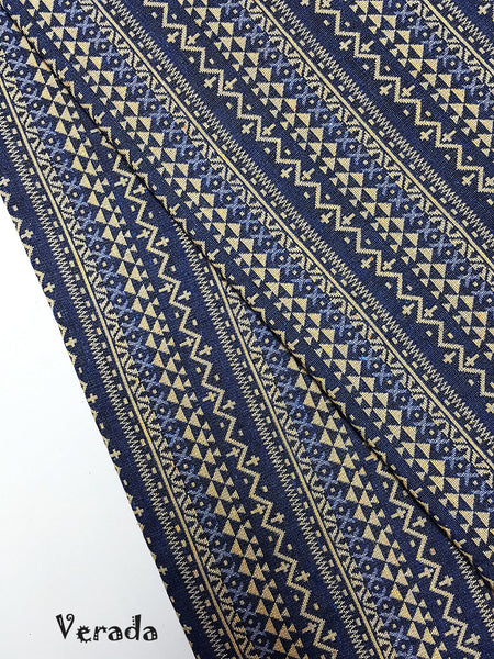 thai woven fabric tribal fabric cotton native fabric by the yard ethnic fabric aztec fabric craft supplies woven textile 1 2 yard wf91