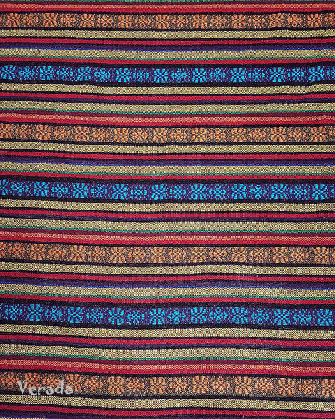 Thai Tribal Native Woven Fabric Textile 1/2 yard (WF96), VeradaCraft, HaremPantsThai