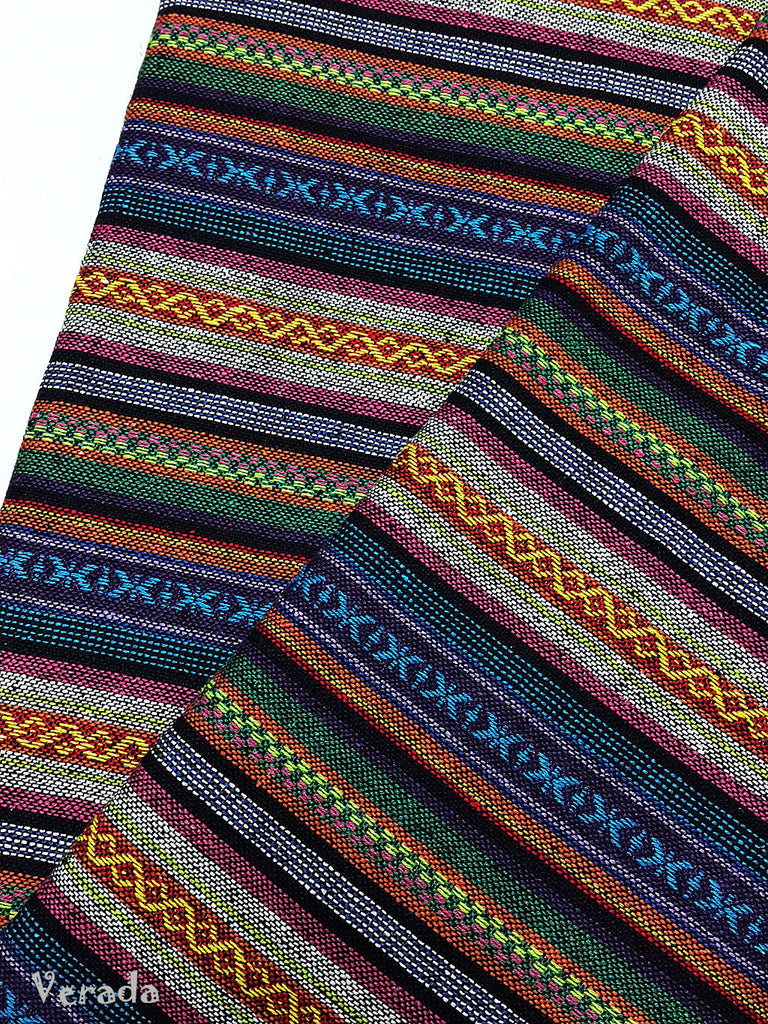thai woven fabric tribal fabric cotton native fabric by the yard ethnic fabric aztec fabric craft supplies woven textile 1 2 yard wf98