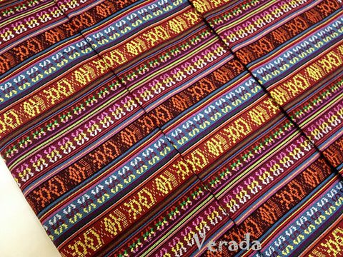 Thai woven fabric Tribal fabric naTive coTTon fabric by The yard eThnic fabric azTec fabric crafT supplies woven TexTile 1 2 yard FF4