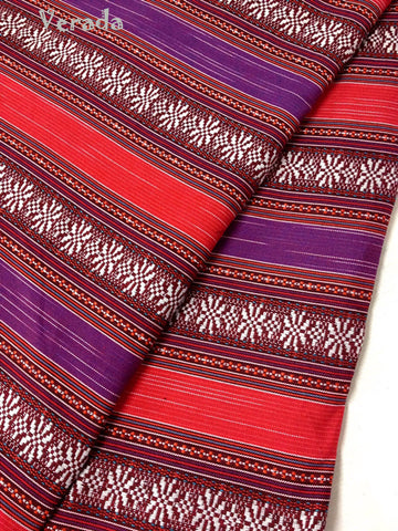 Thai woven fabric Tribal fabric naTive coTTon fabric by The yard eThnic fabric azTec fabric crafT supplies woven TexTile 1 2 yard FF5