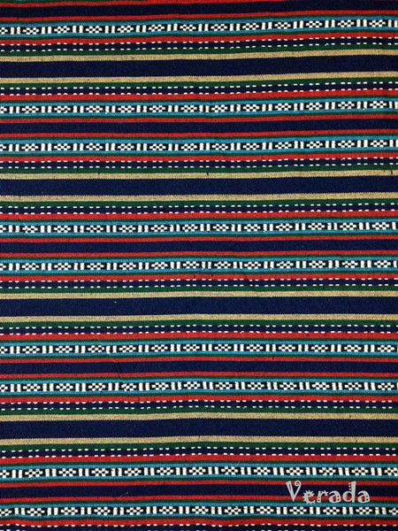 Thai Tribal Native Woven Fabric textile 1/2 yard Navy Blue (FF8), VeradaCraft, HaremPantsThai