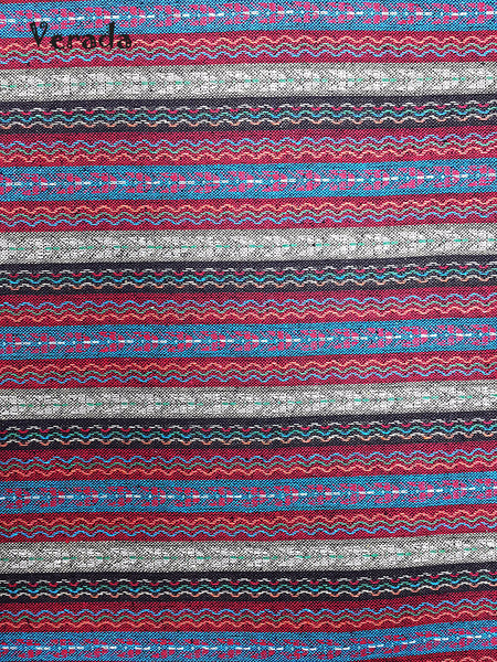Thai Tribal Native Woven Fabric Cotton Textile 1/2 yard (WF86), VeradaCraft, HaremPantsThai