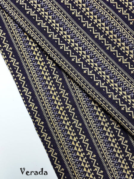 thai woven fabric tribal fabric cotton native fabric by the yard ethnic fabric aztec fabric craft supplies woven textile 1 2 yard wf90