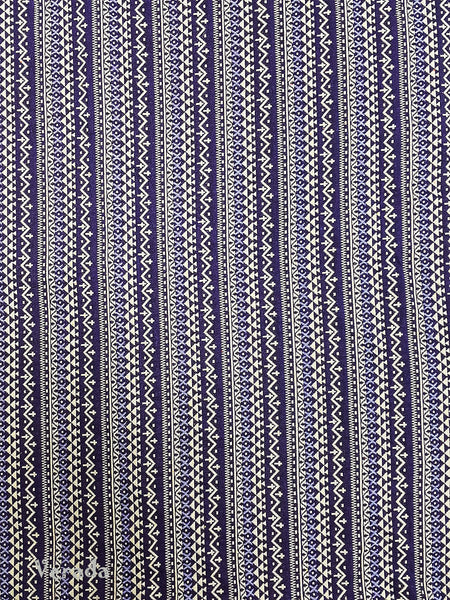 Thai Tribal Native Woven Fabric Cotton Textile 1/2 yard (WF90), VeradaCraft, HaremPantsThai
