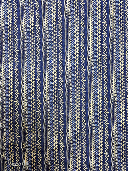 Thai Tribal Native Woven Fabric Cotton Textile 1/2 yard (WF91), VeradaCraft, HaremPantsThai