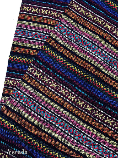 thai woven fabric tribal fabric native fabric by the yard ethnic fabric aztec fabric craft supplies woven textile 1 2 yard wf97