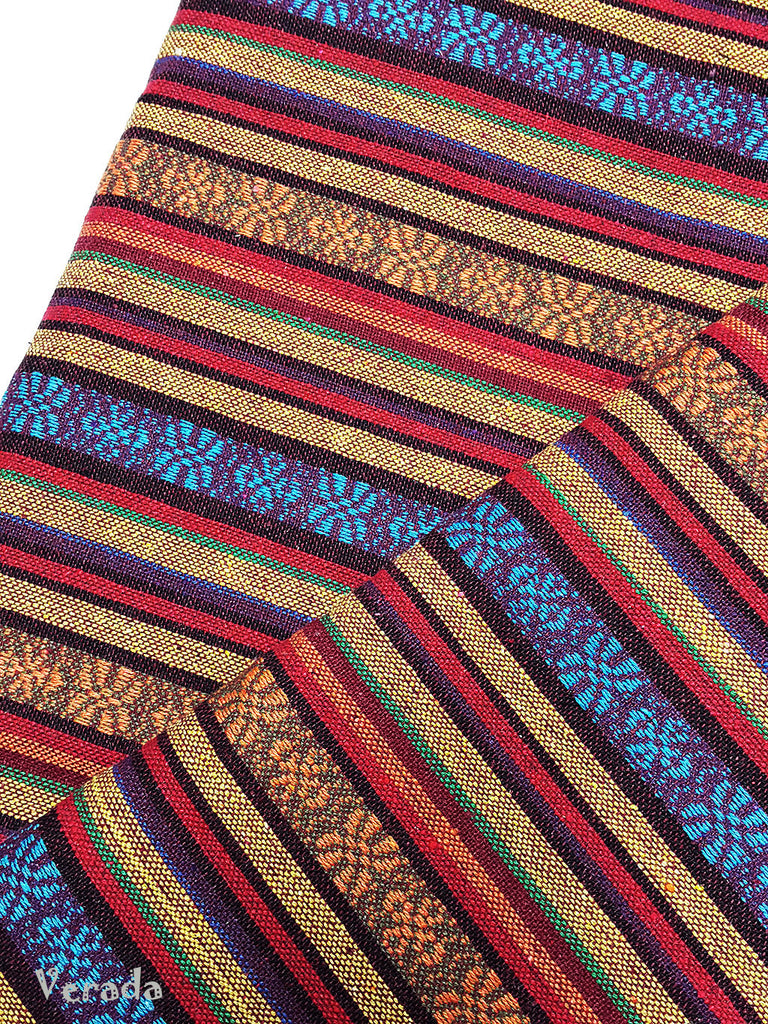 thai woven fabric tribal fabric native fabric by the yard ethnic fabric aztec fabric craft supplies woven textile 1 2 yard wf96