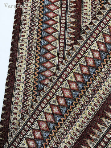 thai woven fabric tribal fabric native fabric by the yard ethnic fabric aztec fabric craft supplies woven textile 1 2 yard brown wf99