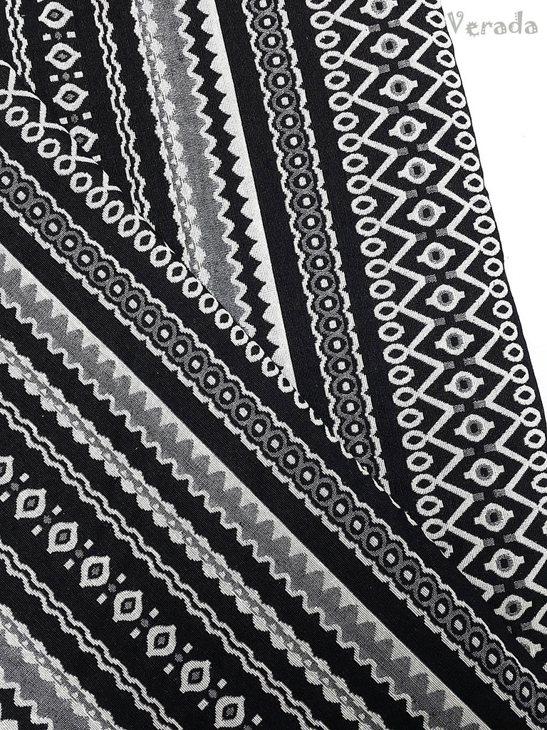 woven fabric tribal fabric native fabric by the yard ethnic fabric aztec fabric craft supplies woven textile 1 2 yard black white wf100