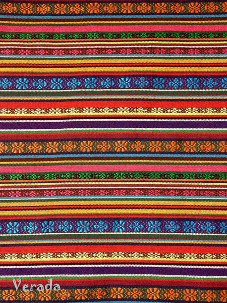 Thai Tribal Native Woven Fabric Cotton Textile 1/2 yard (FF6), VeradaCraft, HaremPantsThai