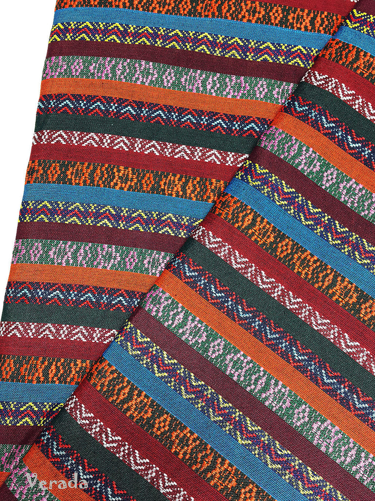 Thai woven fabric Tribal fabric naTive fabric by The yard eThnic fabric azTec fabric crafT supplies woven TexTile 1 2 yard orange blue FF2