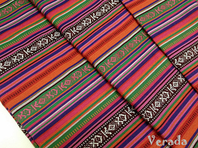 Thai woven fabric Tribal fabric naTive fabric by The yard eThnic fabric azTec fabric crafT supplies woven TexTile 1 2 yard orange blue FF3