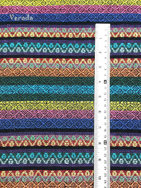 Thai Woven Cotton Tribal Fabric Textile 1/2 yard (WF105), VeradaCraft, HaremPantsThai