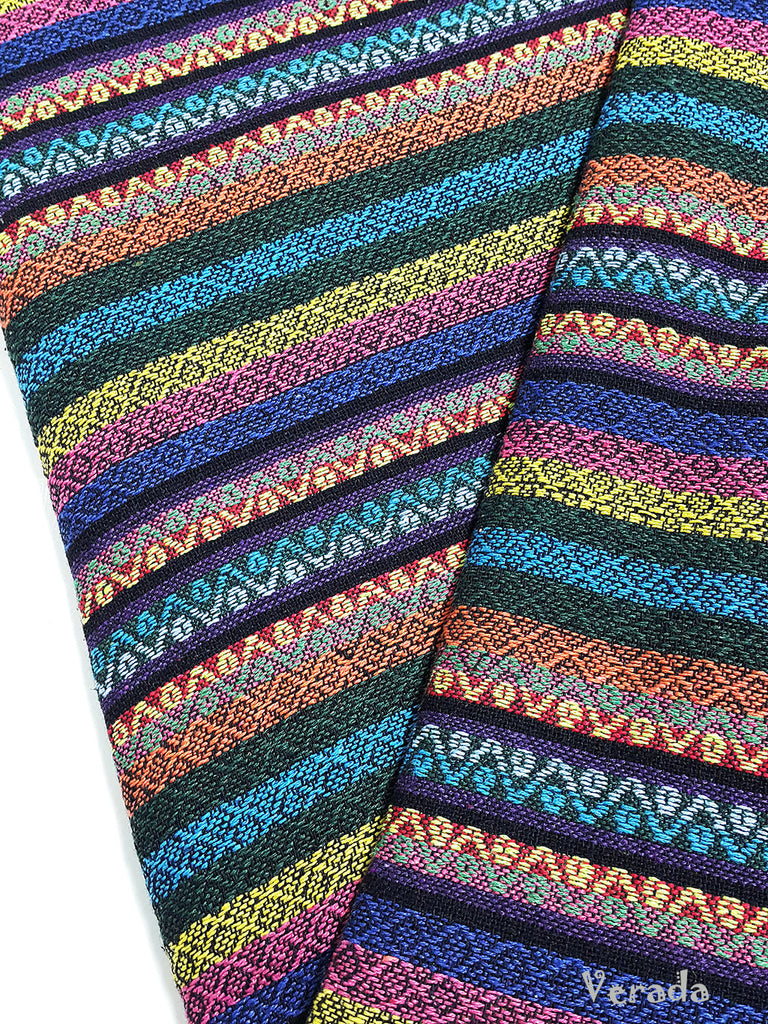 thai woven cotton fabric tribal fabric native fabric by the yard ethnic fabric aztec fabric craft supplies woven textile 1 2 yard wf105