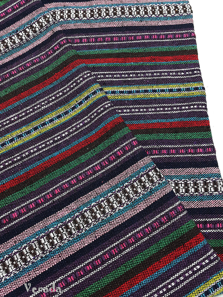 thai woven cotton fabric tribal fabric native fabric by the yard ethnic fabric aztec fabric craft supplies woven textile 1 2 yard wf107
