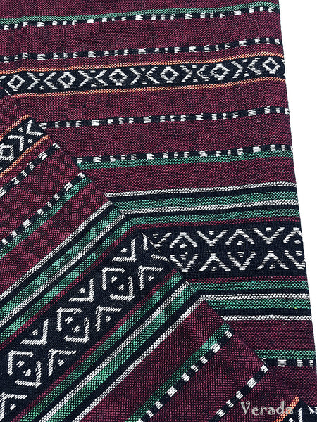 thai woven cotton fabric tribal fabric native fabric by the yard ethnic fabric aztec fabric craft supplies woven textile 1 2 yard wf109