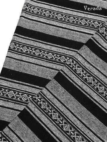 woven cotton fabric tribal fabric native fabric by the yard ethnic fabric aztec fabric craft supplies woven textile 1 2 yard black wf113