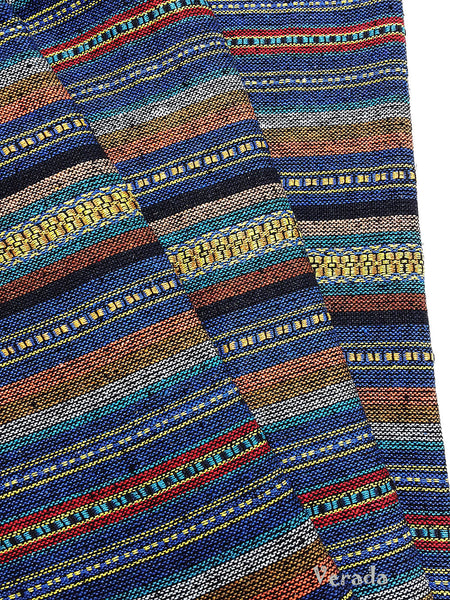 thai woven cotton fabric tribal fabric native fabric by the yard ethnic fabric aztec fabric craft supplies woven textile 1 2 yard wf57