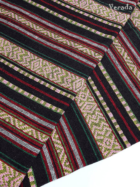 thai woven cotton fabric tribal fabric native fabric by the yard ethnic fabric aztec fabric craft supplies woven textile 1 2 yard wf111