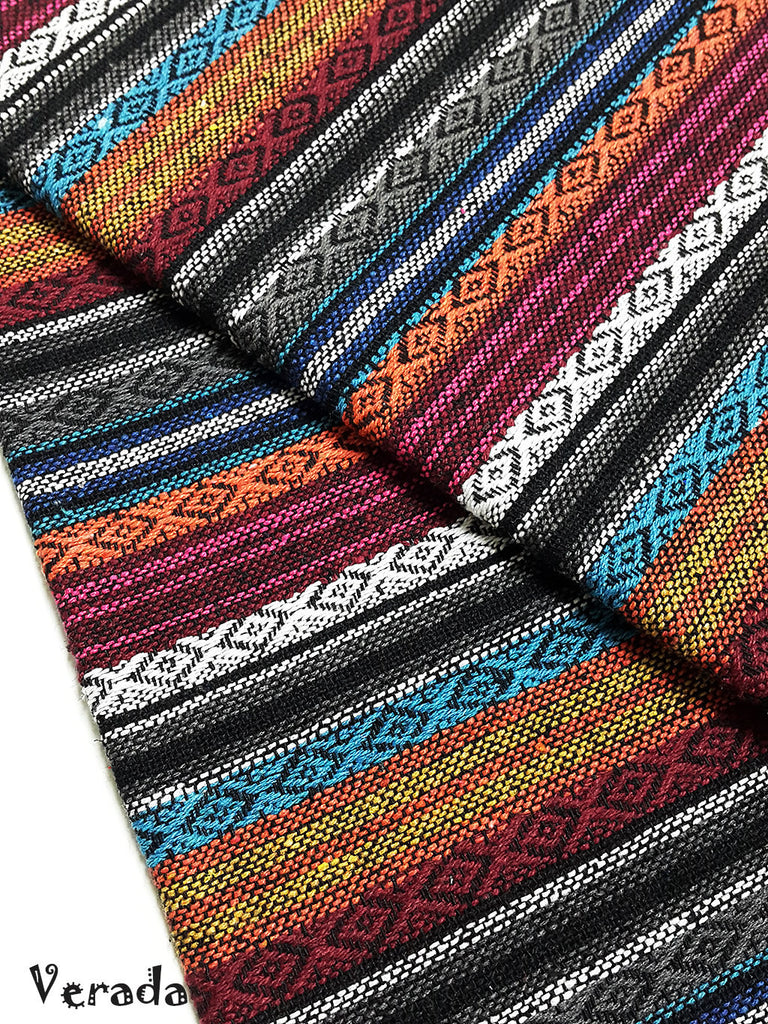 thai woven cotton fabric tribal fabric native fabric by the yard ethnic fabric aztec fabric craft supplies woven textile 1 2 yard wf116