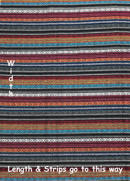 Thai Woven Cotton Tribal Fabric Textile 1/2 yard (WF116), VeradaCraft, HaremPantsThai