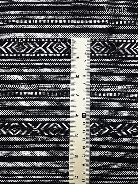 Woven Fabric Tribal Fabric Cotton Textile 1/2 yard Black & White (WF118), VeradaCraft, HaremPantsThai