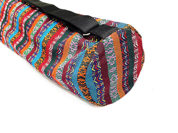 Thai Handmade Woven Yoga Mat Bag Sports Bags Pilates Mat Bag (FF2), VeradaShop, HaremPantsThai