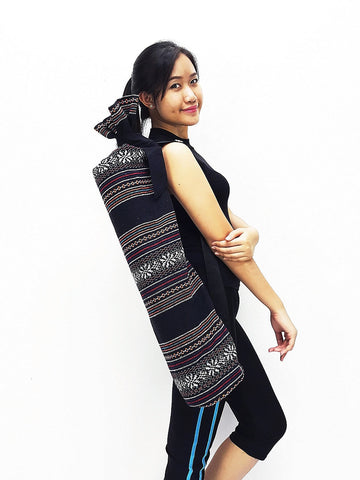 Handmade Yoga Mat Bag Yoga Bag Sports Bags Tote Yoga Sling bag Pilates Bag Pilates Mat Bag Woven Cotton bag (WF101)