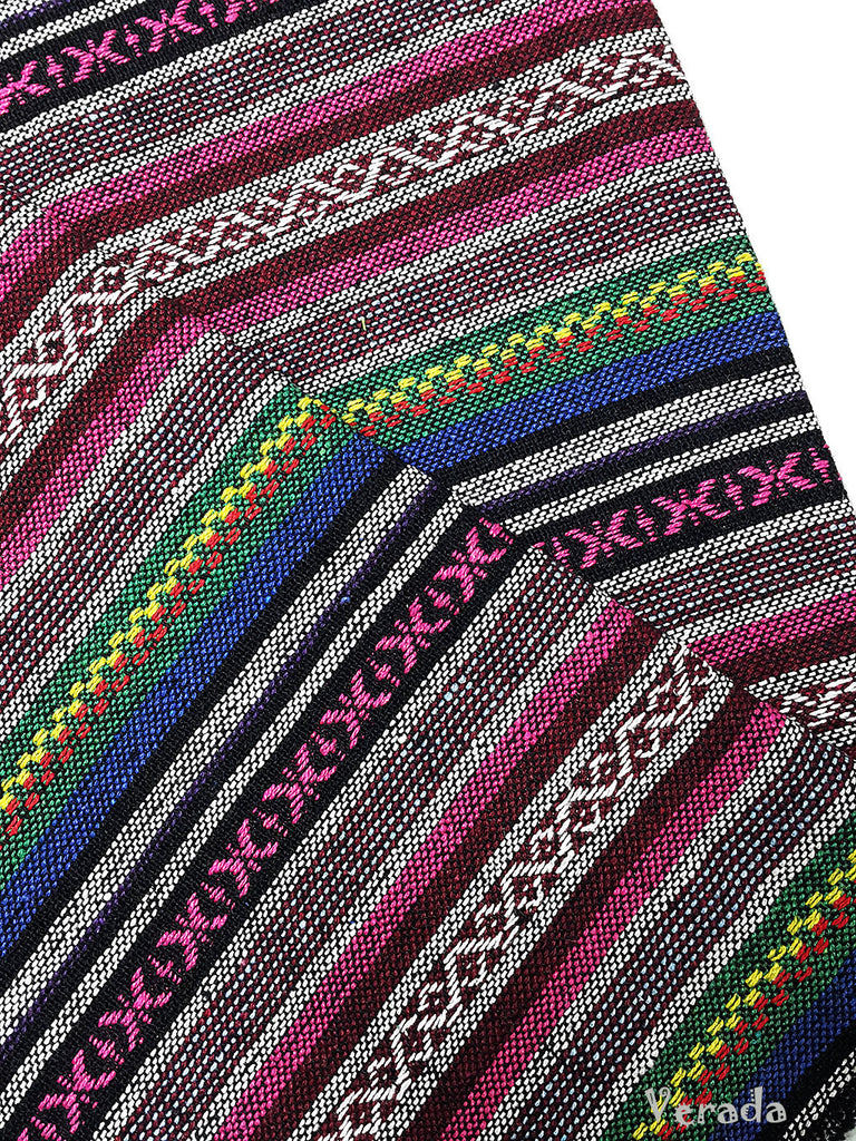 thai woven cotton fabric tribal fabric native fabric by the yard ethnic fabric aztec fabric craft supplies woven textile 1 2 yard wf117