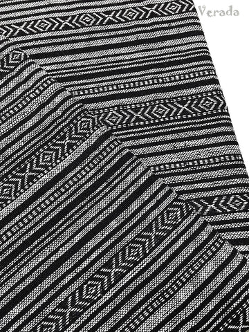 woven fabric tribal fabric cotton fabric by the yard ethnic fabric craft fabric craft supplies woven textile 1 2 yard black white wf118