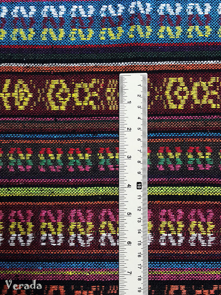 Thai Woven Cotton Tribal Fabric Textile 1/2 yard (WF119), VeradaCraft, HaremPantsThai
