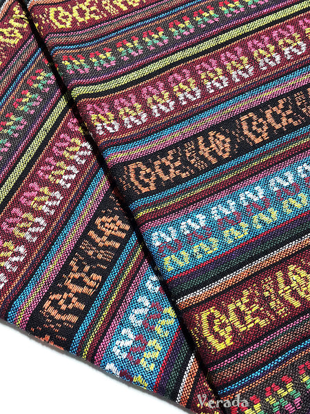 thai woven cotton fabric tribal fabric native fabric by the yard ethnic fabric aztec fabric craft supplies woven textile 1 2 yard wf119