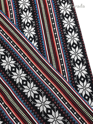 woven cotton fabric tribal fabric native fabric by the yard ethnic fabric aztec fabric craft supplies woven textile 1 2 yard black wf123
