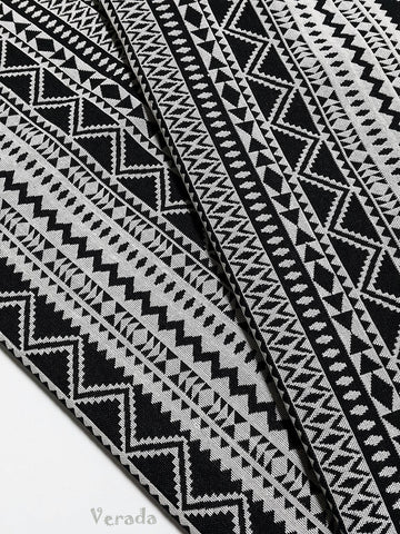 woven cotton fabric tribal fabric native fabric by the yard ethnic fabric aztec fabric craft supplies woven textile 1 2 yard black wf124