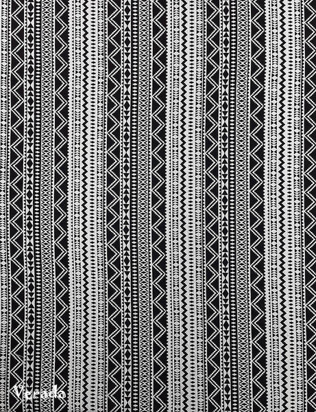 Woven Cotton Tribal Fabric Textile 1/2 yard Black (WF124), VeradaCraft, HaremPantsThai