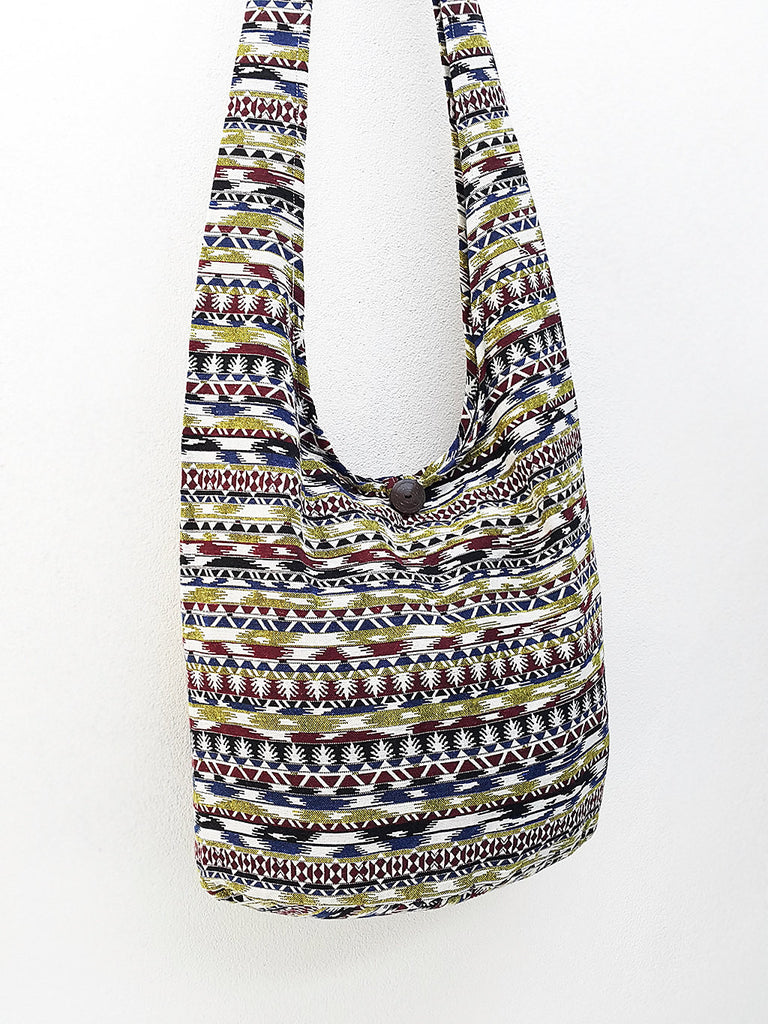 Handbags Woven bag Hippie bag Hobo bag Boho bag Shoulder bag Sling bag Tote Cotton bag Crossbody bag Purse, VeradaShop, HaremPantsThai