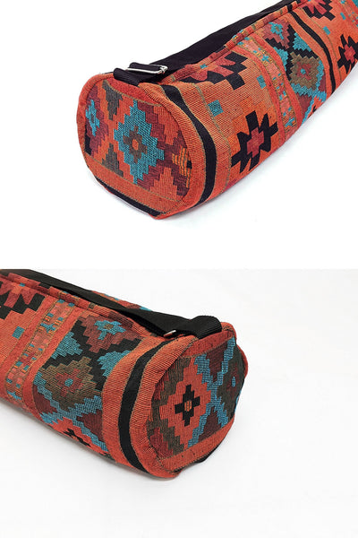 Thai Handmade Woven Yoga Mat Bag Sports Bags Pilates Mat Bag (L-WF25), VeradaShop, HaremPantsThai