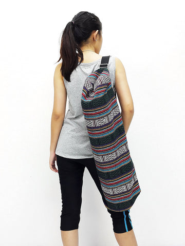 Handmade Yoga Mat Bag Yoga Bag Sports Bags Sling bag Pilates Bag Pilates Mat Bag Woven Bag Women bag Woven Cotton bag Unisex bag (L-WF15)
