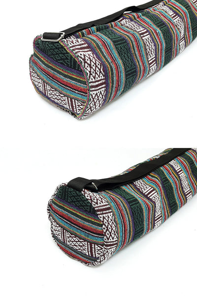 Thai Handmade Woven Yoga Mat Bag Sports Bags Pilates Mat Bag (L-WF15), VeradaShop, HaremPantsThai