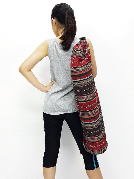 Handmade Yoga Mat Bag Yoga Bag Sports Bags Sling bag Pilates Bag Pilates Mat Bag Woven Bag Women bag Woven Cotton bag Unisex bag (L-WF38)