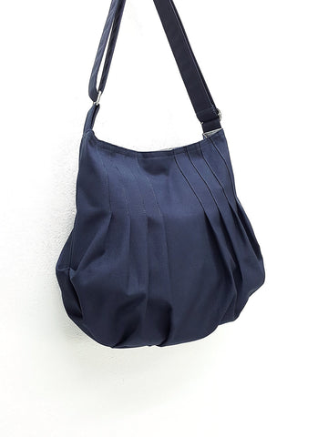 Canvas Bag Handbags Cotton bag Diaper bag Shoulder bag Boho bag Hobo bag Tote bag Purse Everyday bag  Navy Blue Jane