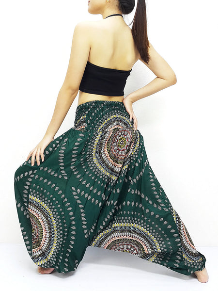 Handmade Harem Pants Yoga Pants Aladdin Pants Gypsy Jumpsuit Green (HP197)