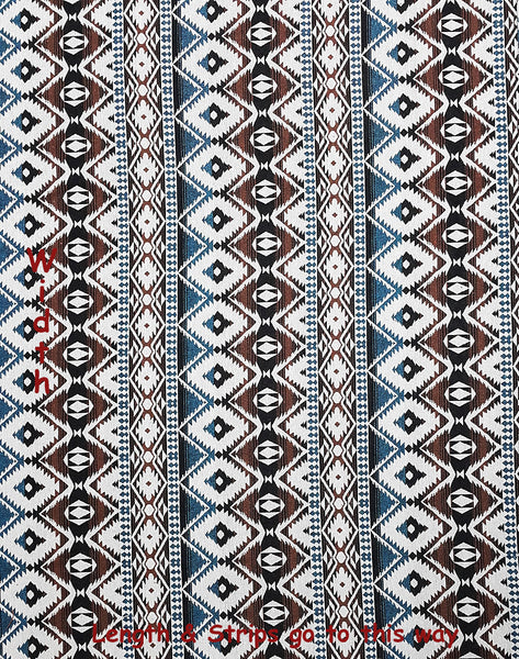 Thai Tribal Native Woven Fabric Cotton Textile 1/2 yard (WF126), VeradaCraft, HaremPantsThai