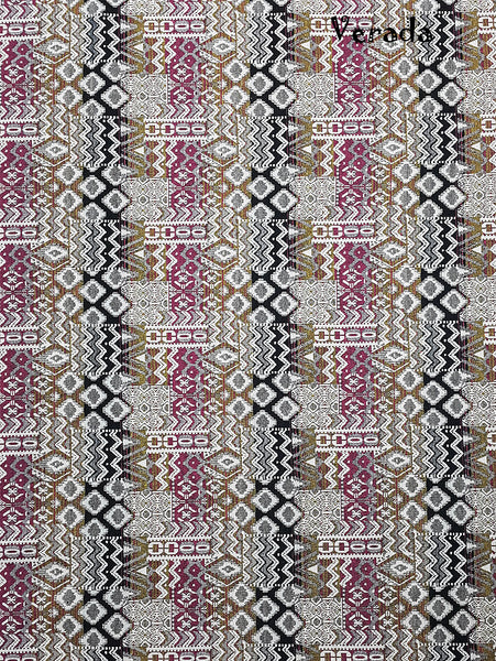 Woven Fabric Tribal Fabric CottonAztec  fabric Textile 1/2 yard (WF127), VeradaCraft, HaremPantsThai