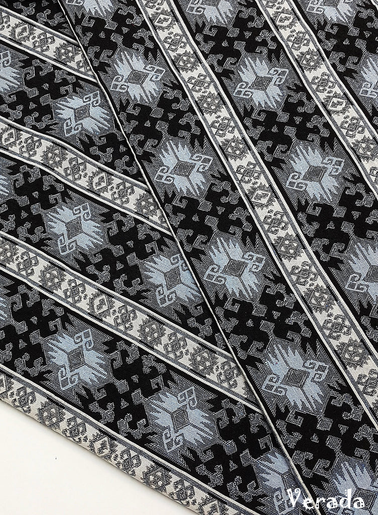 woven fabric tribal fabric native fabric by the yard ethnic fabric aztec craft fabric craft supplies woven cotton textile 1 2 yard wf129