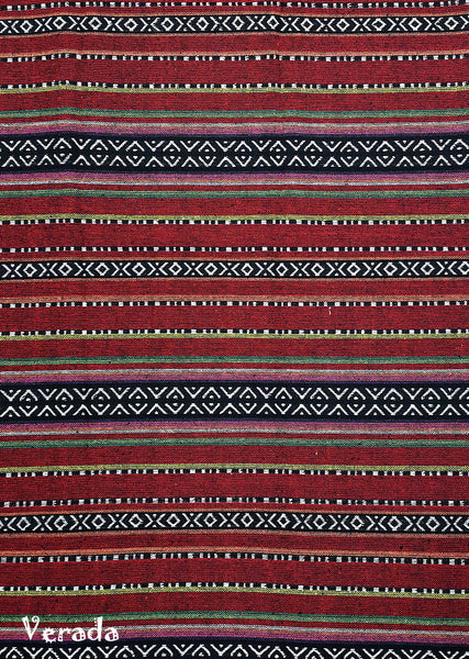 Thai Woven Cotton Tribal Fabric Textile 1/2 yard (WF132), VeradaCraft, HaremPantsThai