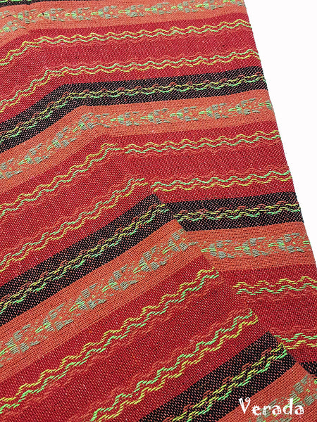 thai woven cotton fabric tribal fabric native fabric by the yard ethnic fabric aztec fabric craft supplies woven textile 1 2 yard wf131